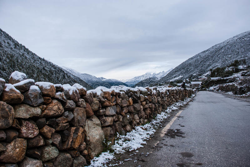 Śnieg w Kangding obrazy stock