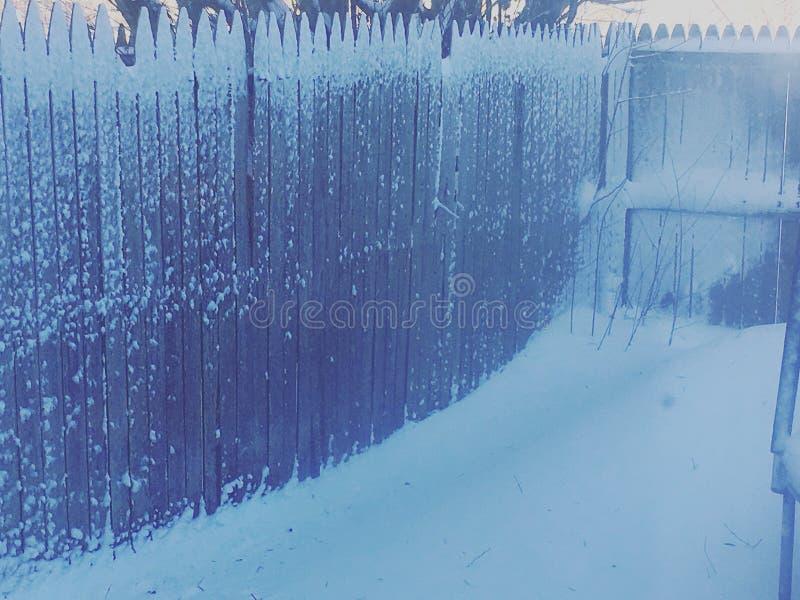 Śniegu ogrodzenie obrazy stock