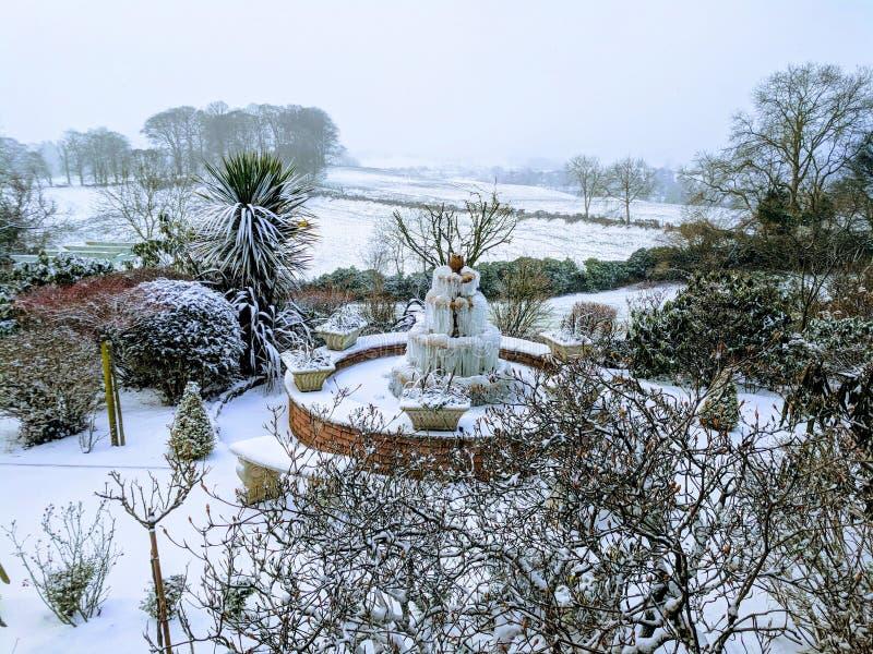 Śniegu park obrazy stock