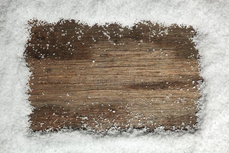 Śniegu ramowy tło zdjęcie royalty free