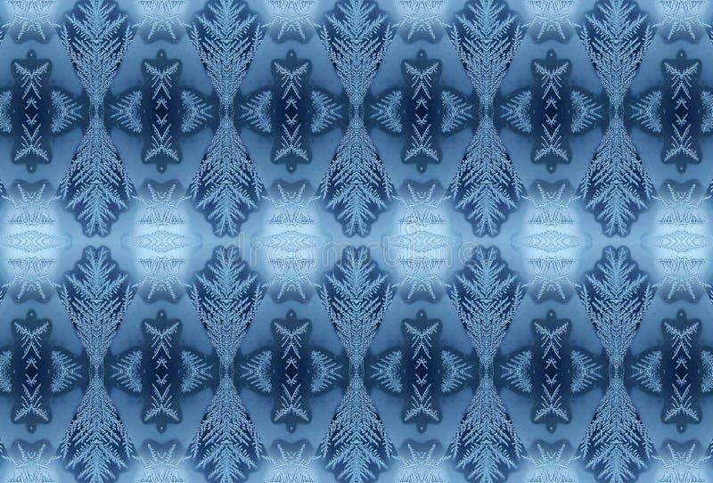 śniegurek szkła zimy wzoru ilustracja wektor