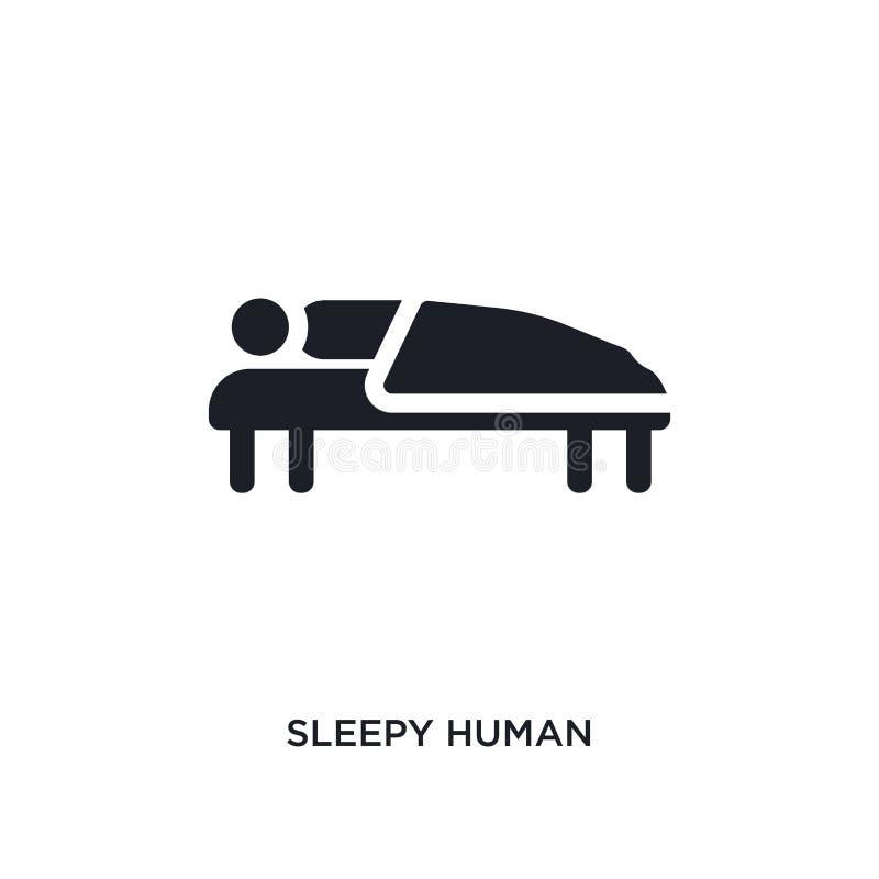 śpiącej istoty ludzkiej odosobniona ikona prosta element ilustracja od uczucia pojęcia ikon śpiący ludzki editable logo znaka sym ilustracja wektor