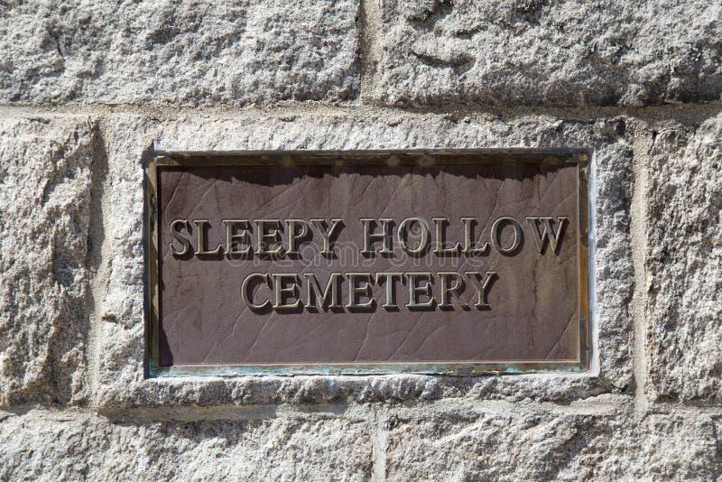 Śpiący Święci cmentarz zdjęcie stock