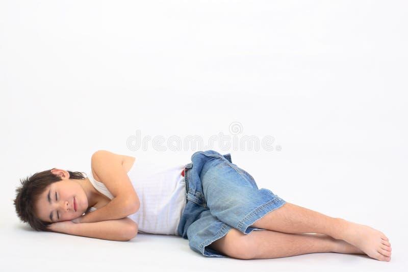 śpiący nastolatków. zdjęcia stock