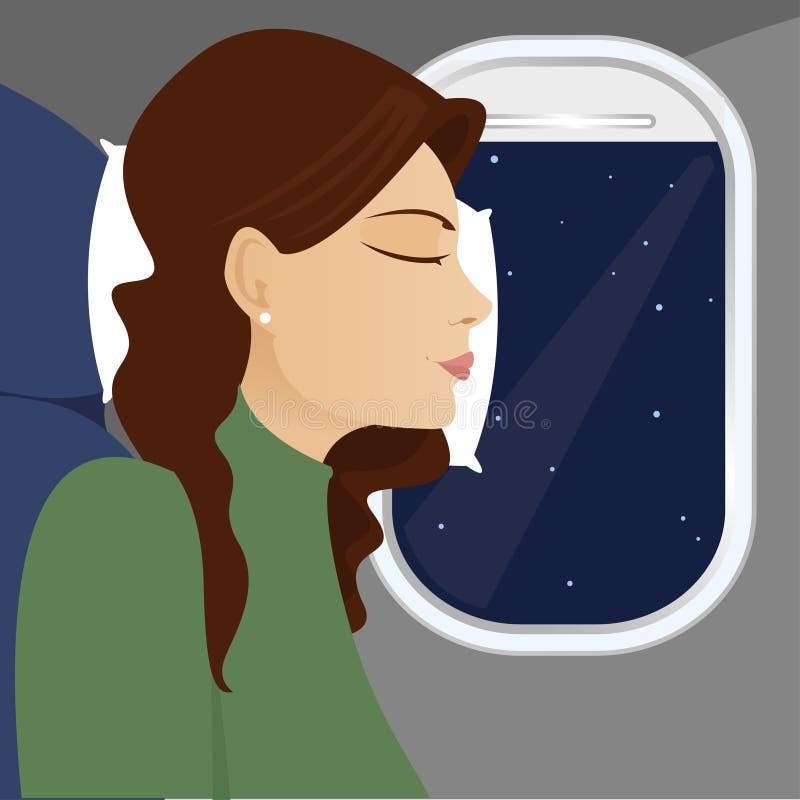 śpiący okna siedzenia ilustracja wektor