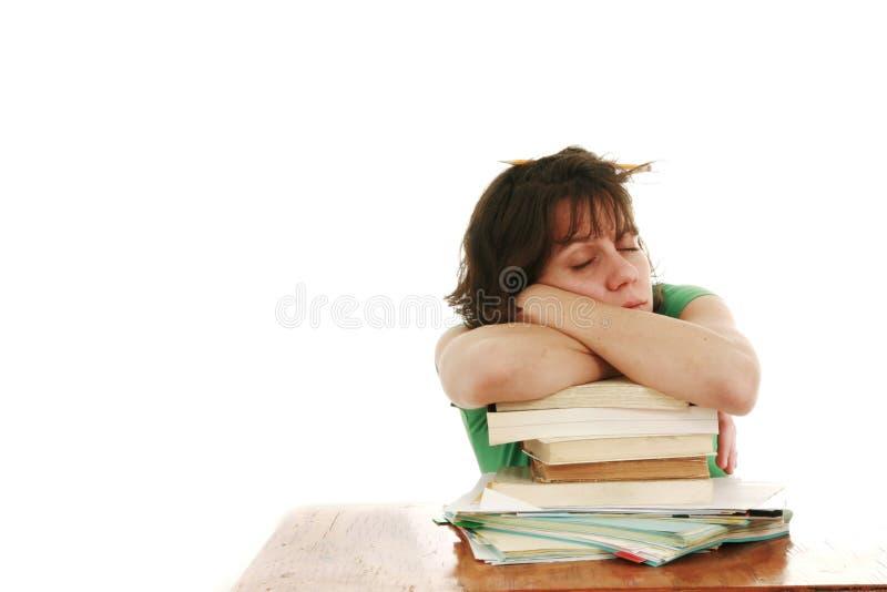 śpiący uczeń zdjęcia royalty free