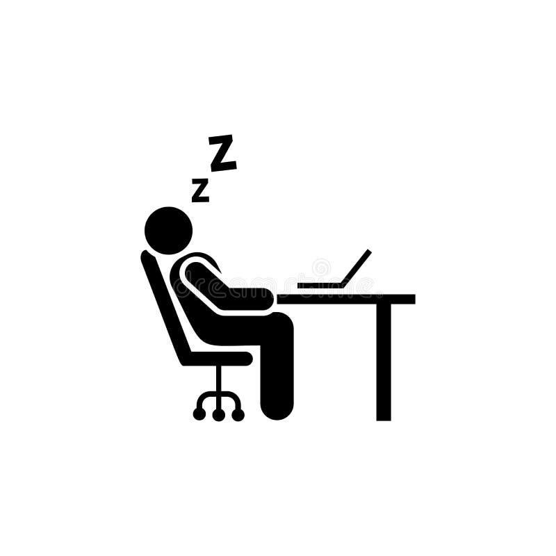 Śpi, męczył, biuro, biznesmen ikona Element biznesmen ikona Premii ilo?ci graficznego projekta ikona podpisz symboli royalty ilustracja