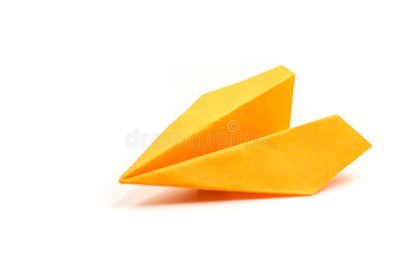 Śpiczasty origami papieru samolot obraz stock