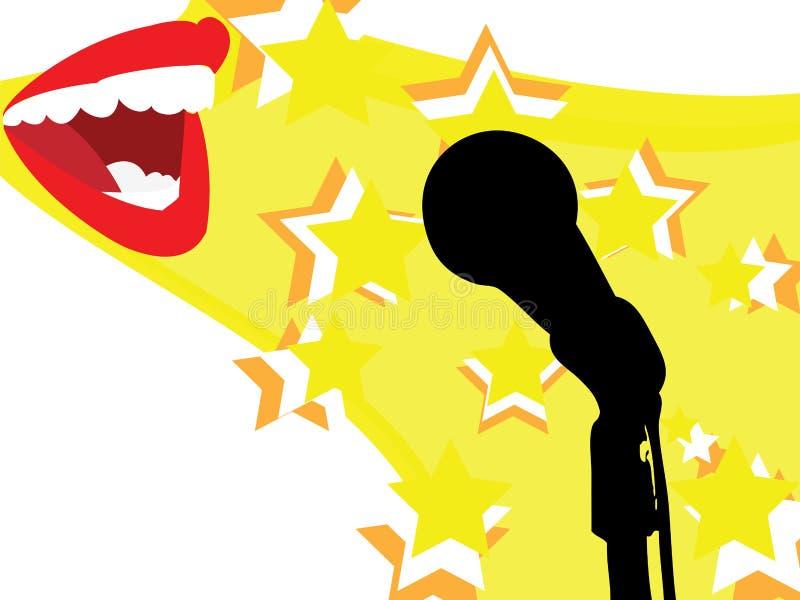 śpiewa royalty ilustracja