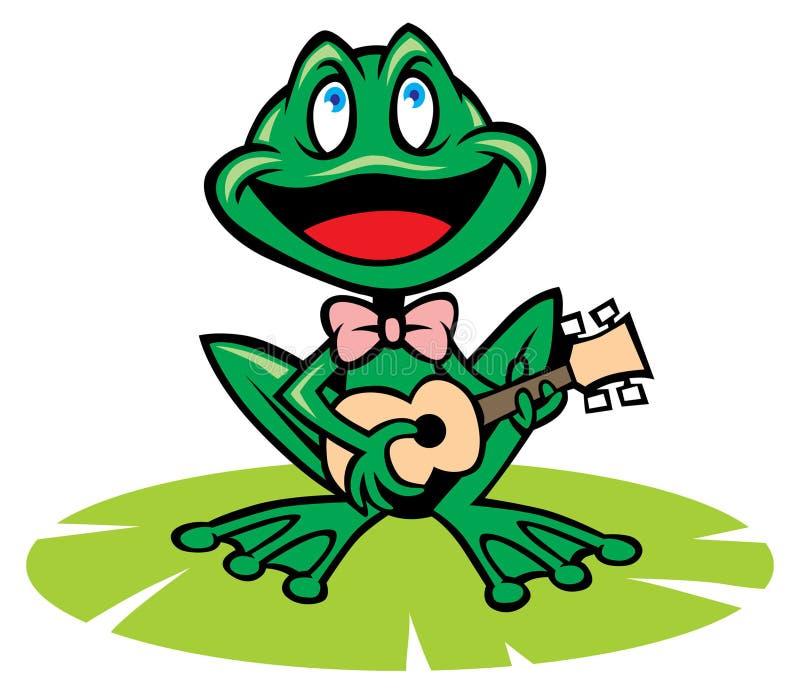 Śpiewacka żaba royalty ilustracja