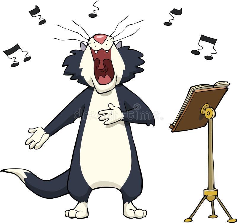 Śpiewacki kot ilustracji