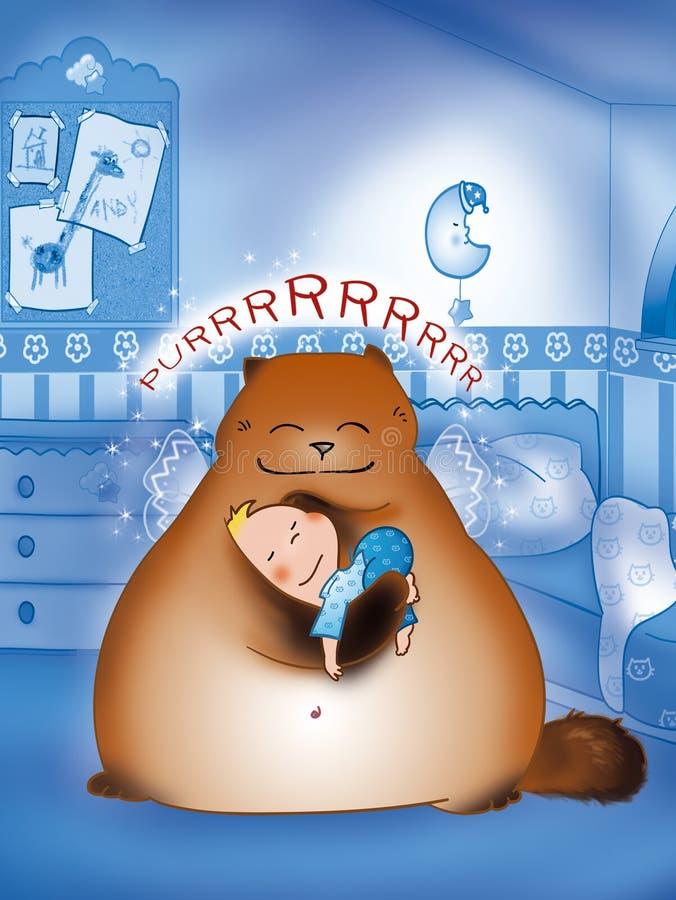 śpij słodko royalty ilustracja