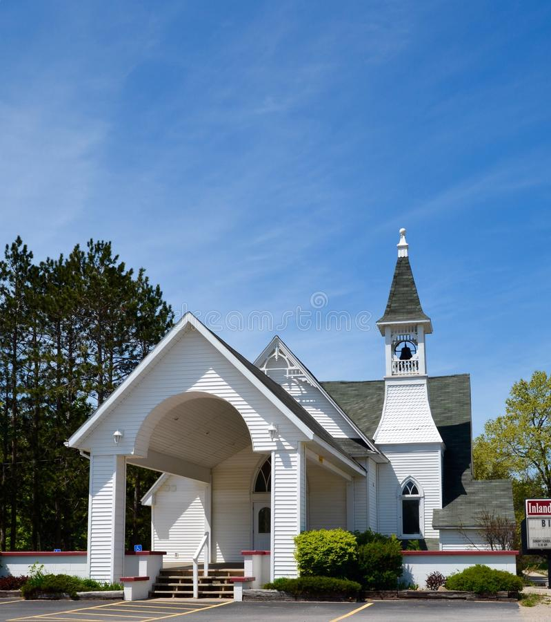 Śródlądowy kościół fotografia royalty free