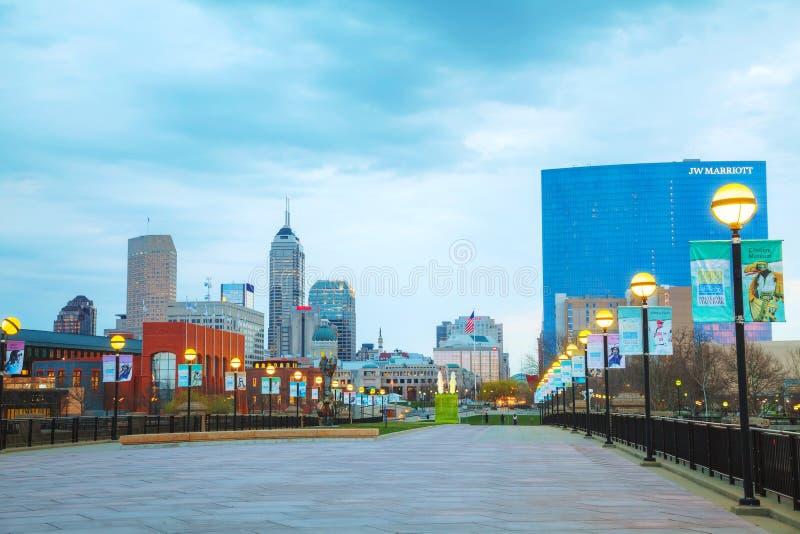 Śródmieście Indianapolis zdjęcia stock