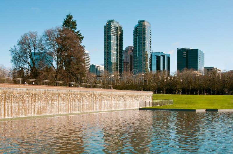 Śródmieście park Bellevue fotografia royalty free