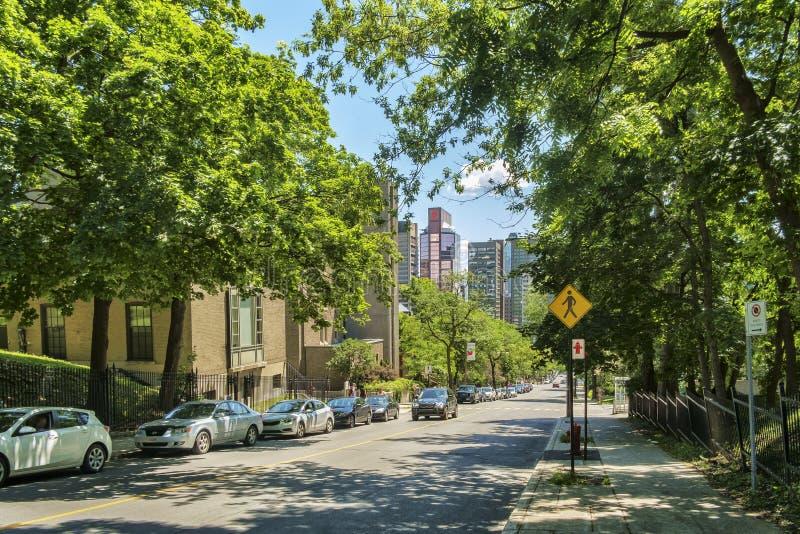 Śródmieście (widzieć od łupy ulicy) obraz stock