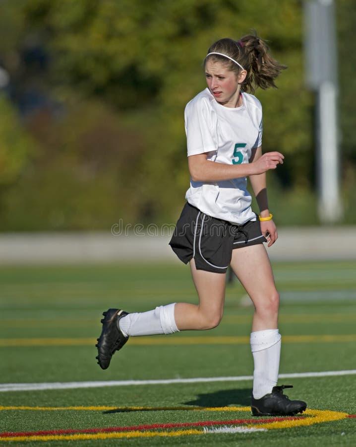 śródpolna dziewczyn gracza piłka nożna zdjęcia royalty free