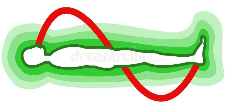 śródpolna energii istota ludzka ilustracja wektor