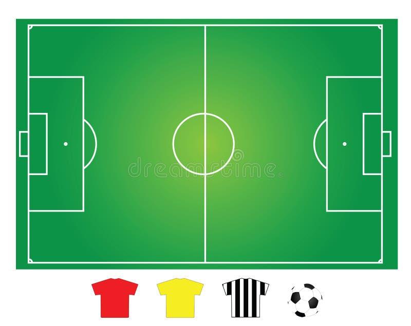 śródpolna futbolowa piłka nożna ilustracji