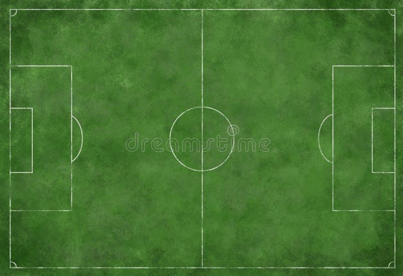 śródpolna futbolowa piłka nożna ilustracja wektor