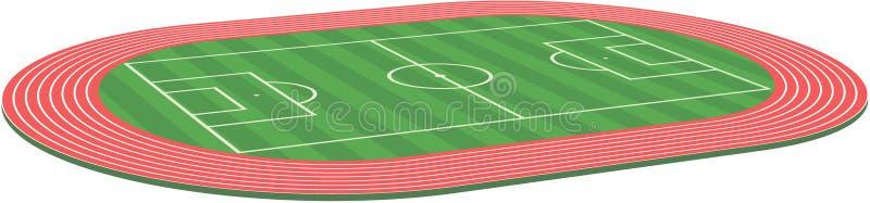 śródpolna futbolowej smoły piłka nożna ilustracji