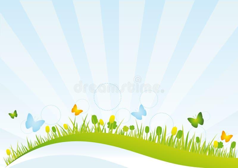 śródpolna wiosna royalty ilustracja