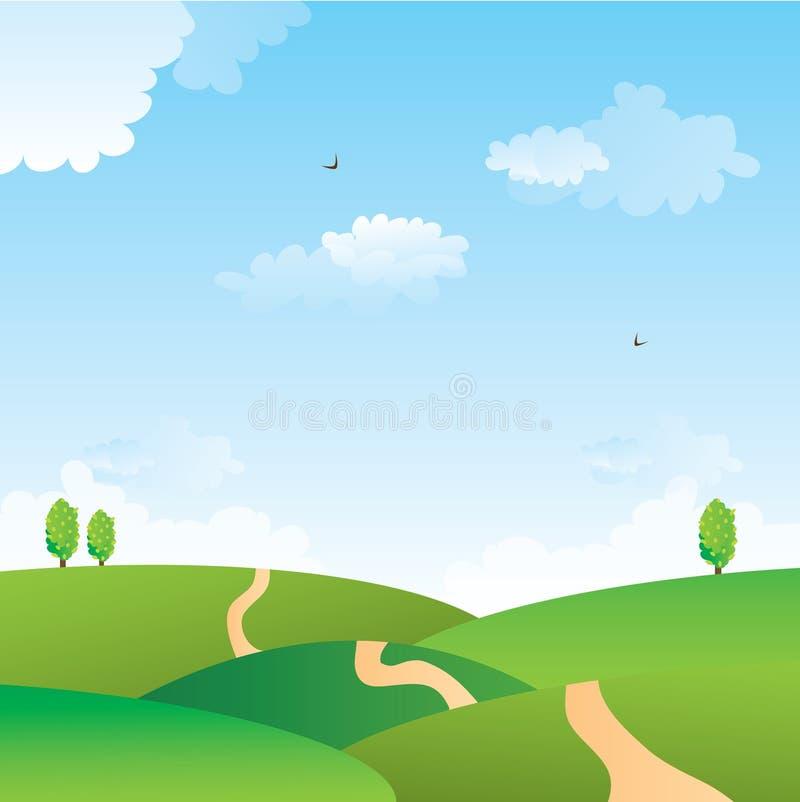 śródpolna zieleń ilustracji