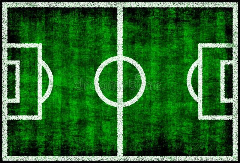 śródpolna zielona piłka nożna ilustracji