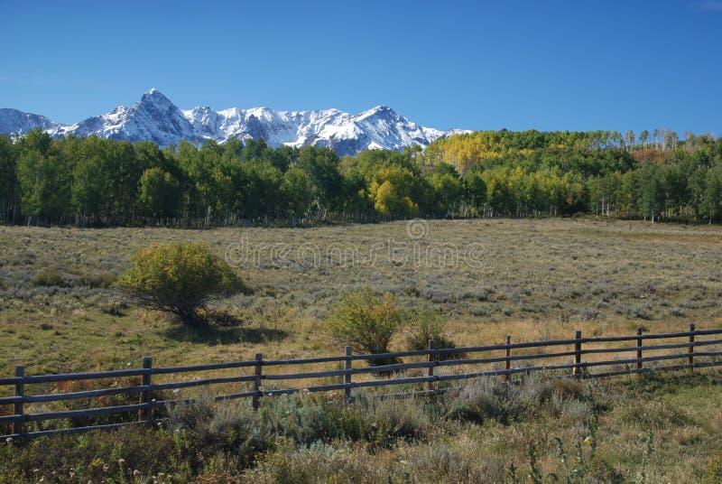 śródpolne Colorado góry Juan San obraz stock