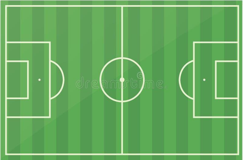 śródpolny futbolowej smoły piłki nożnej wektor ilustracja wektor