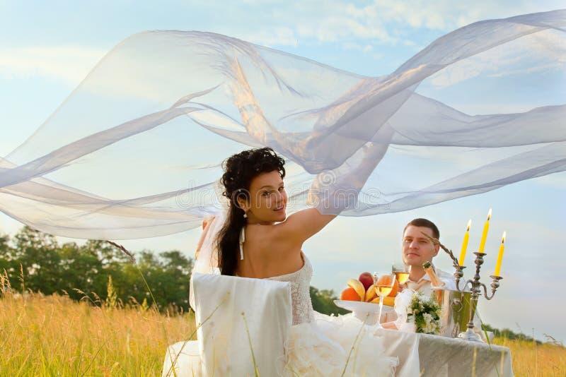 śródpolny gość restauracji ślub obrazy royalty free