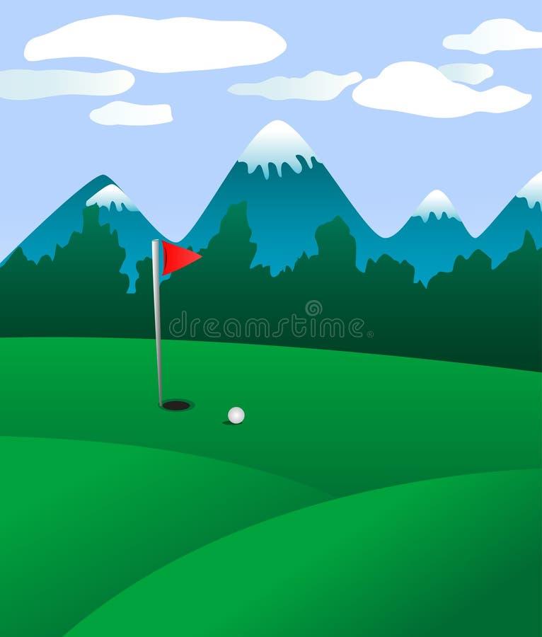 śródpolny golf ilustracji