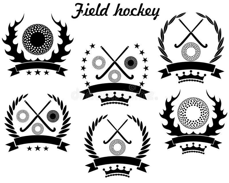 Śródpolny hokej royalty ilustracja