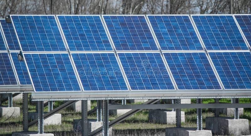 śródpolny photovoltaic zdjęcia royalty free