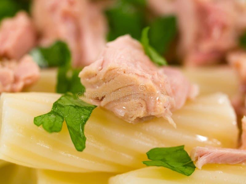 Śródziemnomorska karmowa kolekcja - makaron z tuńczykiem obraz stock