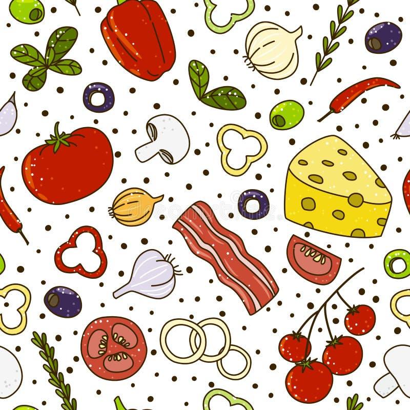 Śródziemnomorska kuchnia royalty ilustracja