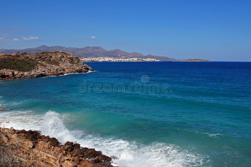 Śródziemnomorski seashore zdjęcia royalty free