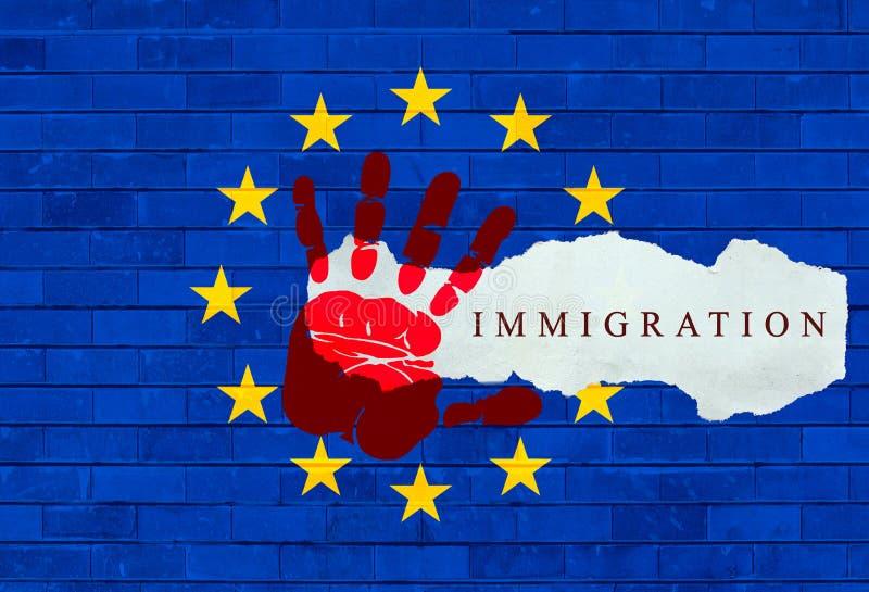 Śródziemnomorski uchodźcy kryzys royalty ilustracja