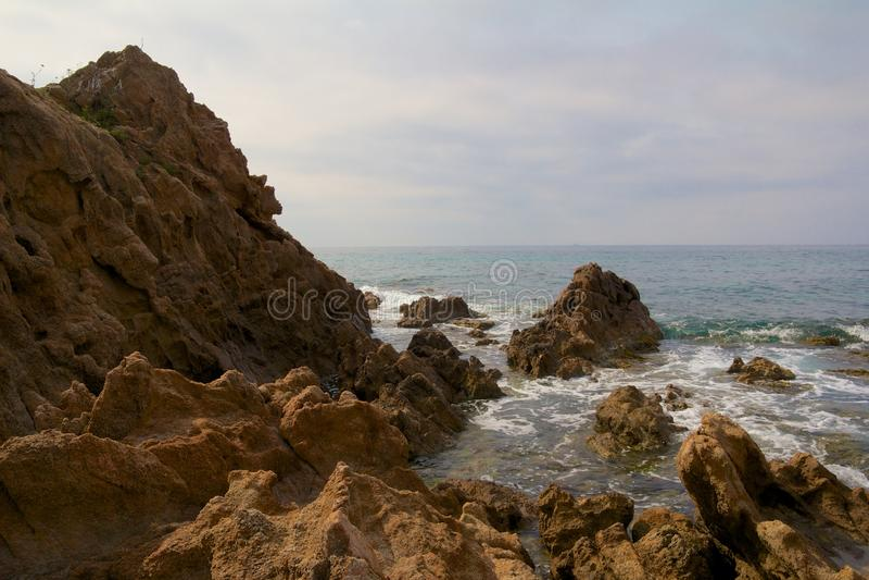 Śródziemnomorskie Skały zdjęcia stock