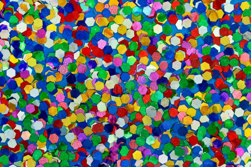 Średni Błękitny, zieleń, rewolucjonistka, menchie, żółta błyskotliwość/ zdjęcia stock