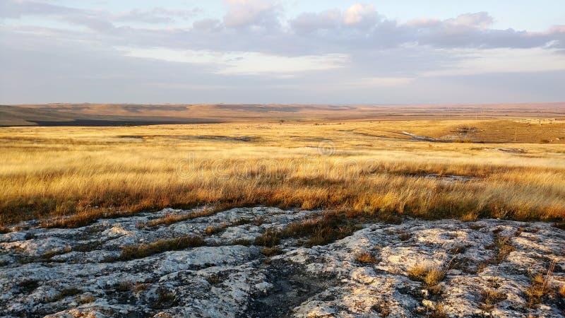 Średniogórza praire krajobraz zdjęcia stock