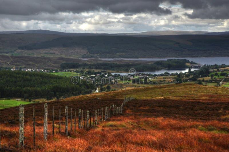 Średniogórza szkocki lairg obrazy royalty free