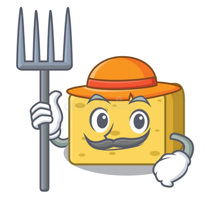 Średniorolna gouda sera charakteru kreskówka ilustracji