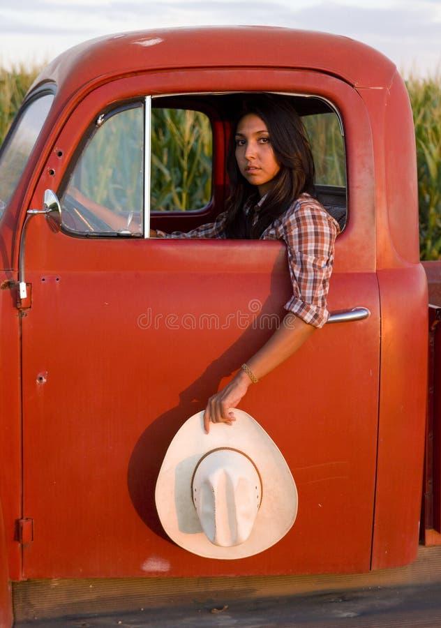 średniorolny żeński ranczer obraz royalty free