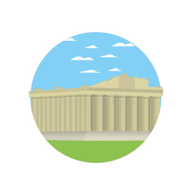 Średniowieczna Athens architektura i ładny krajobraz ilustracji