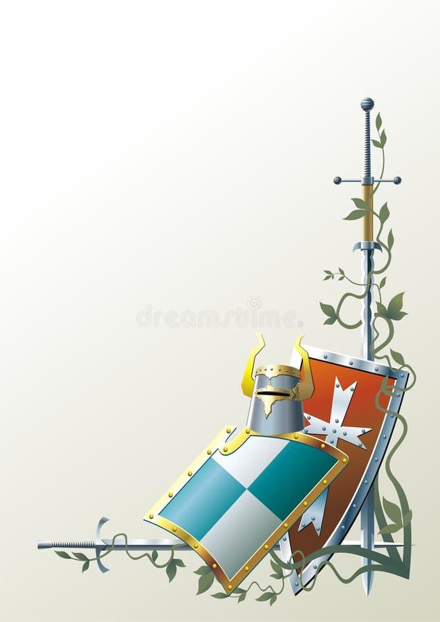 średniowieczna broń ilustracji