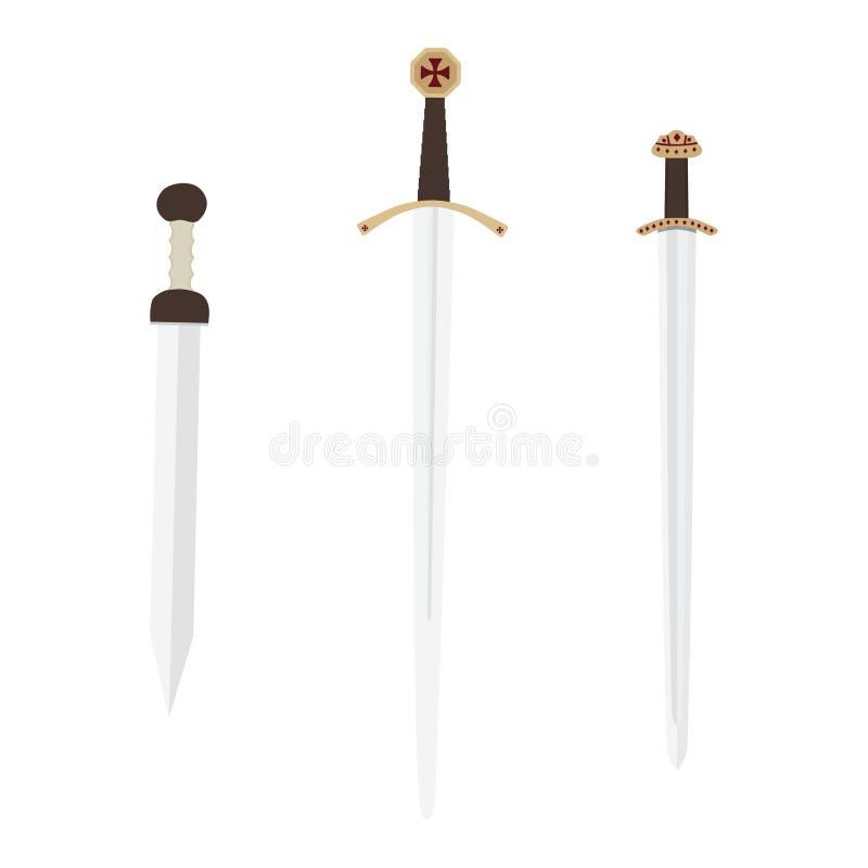 Średniowieczna broni kolekcja ilustracji