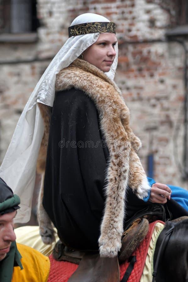Średniowieczna kobieta zdjęcia royalty free