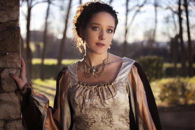 Średniowieczna kobieta obrazy royalty free