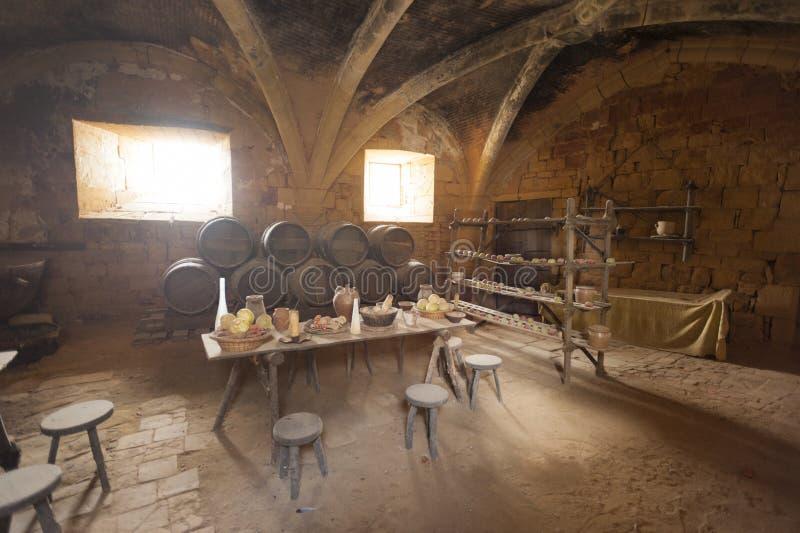 Średniowieczna kuchnia fotografia stock